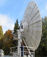 7.3m large satellite dish
