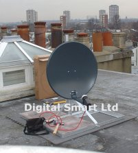 Image flat roof mounted dish