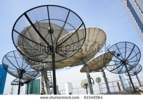 Parabolic satellite dish space