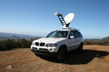 Fly-And-Drive Mobile VSAT Satellite Dish