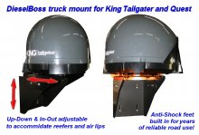King Tailgater and Quest satellite mount bracket for semi truck