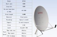 Ku Band Satellite dish antenna