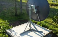 Motorised satellite dish channels